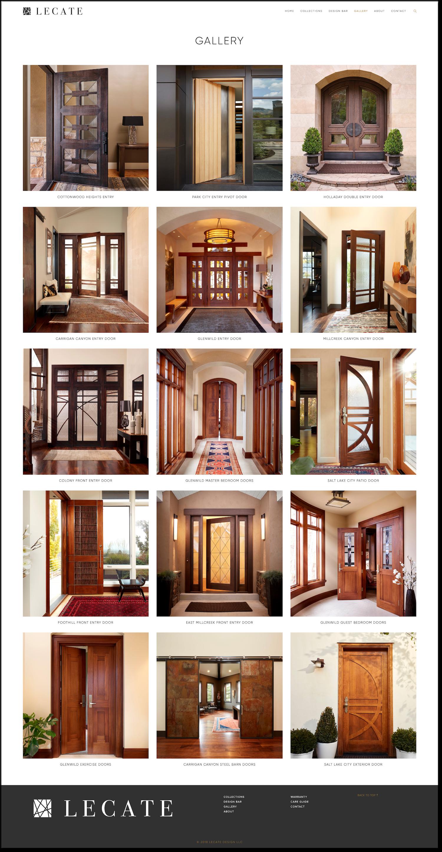 Lecate-Gallery-Page-Design-Website-Squarespace-Artisan-Doors-Salt-Lake-City-Treadaway-Design.png