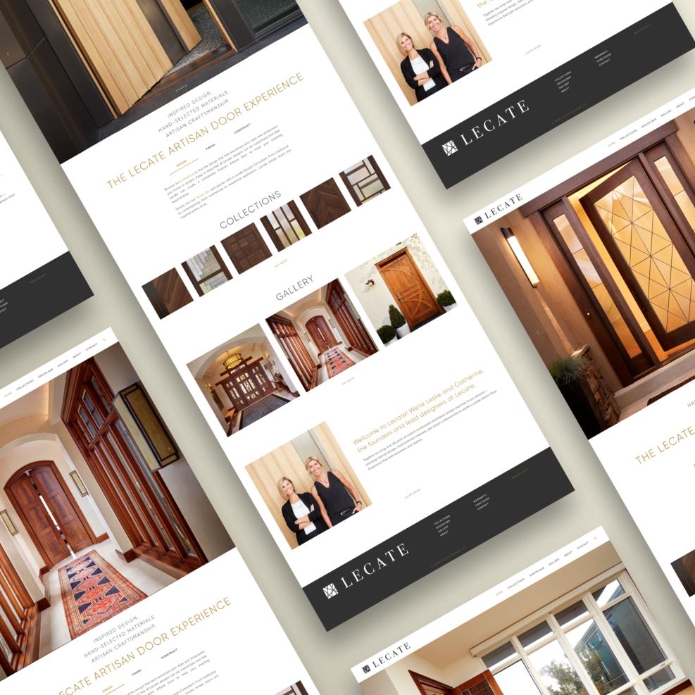 Lecate Artisan Doors   Art Direction, Web