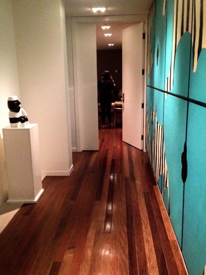 upstairs hallway between two bedrooms