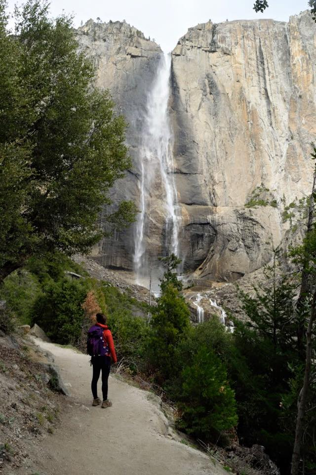 gazing at Upper Yosemite Falls, were going to the top of that!