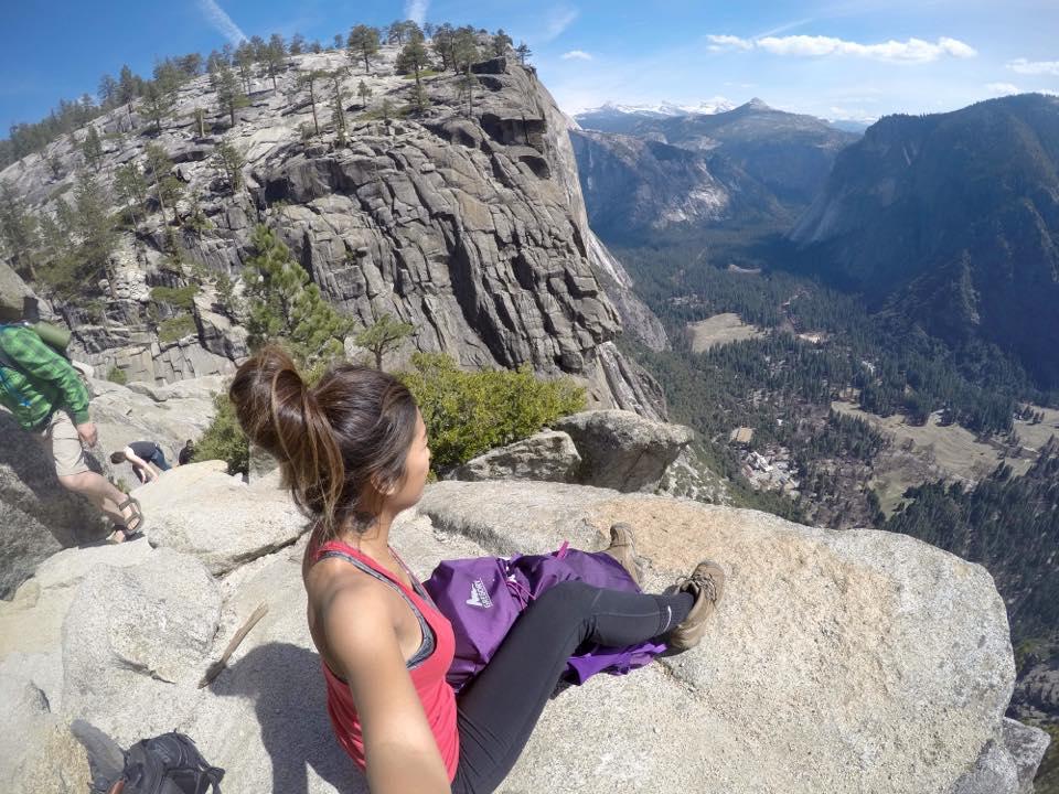 at the top of Upper Yosemite Falls