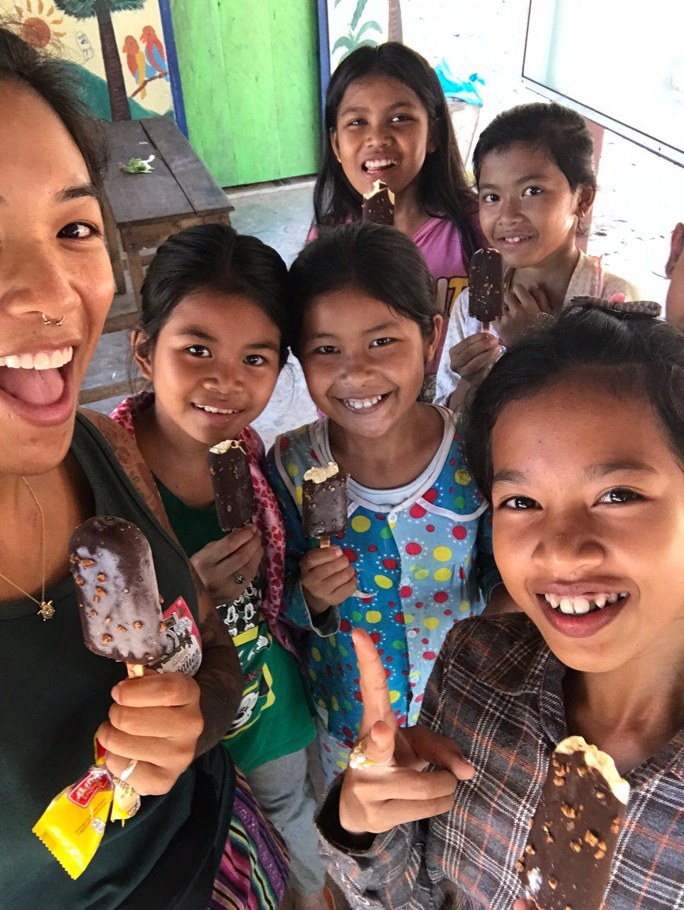 ice cream with the kids