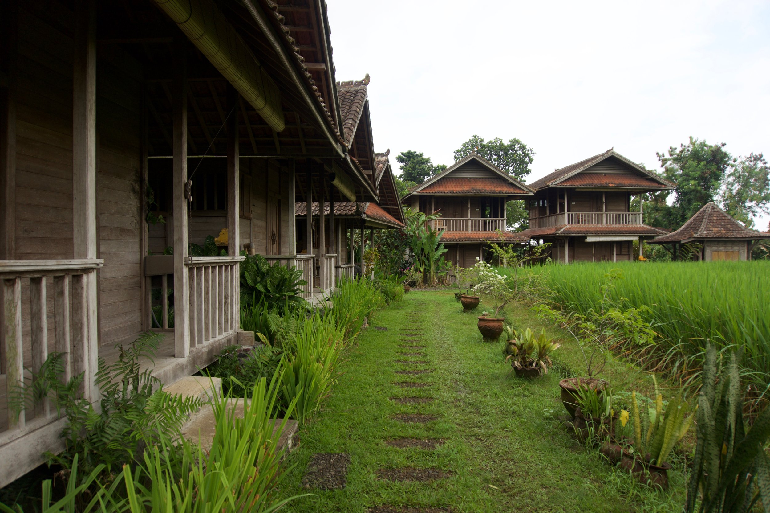 The private bungalows
