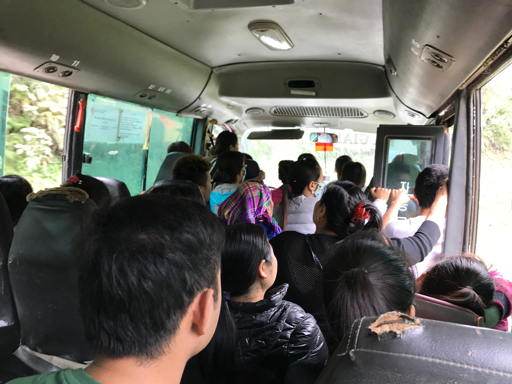 As usual, they packed the bus to the brim.
