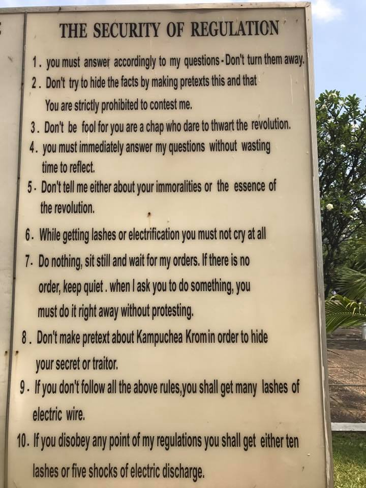The surreal rules the victims needed to adhere to.