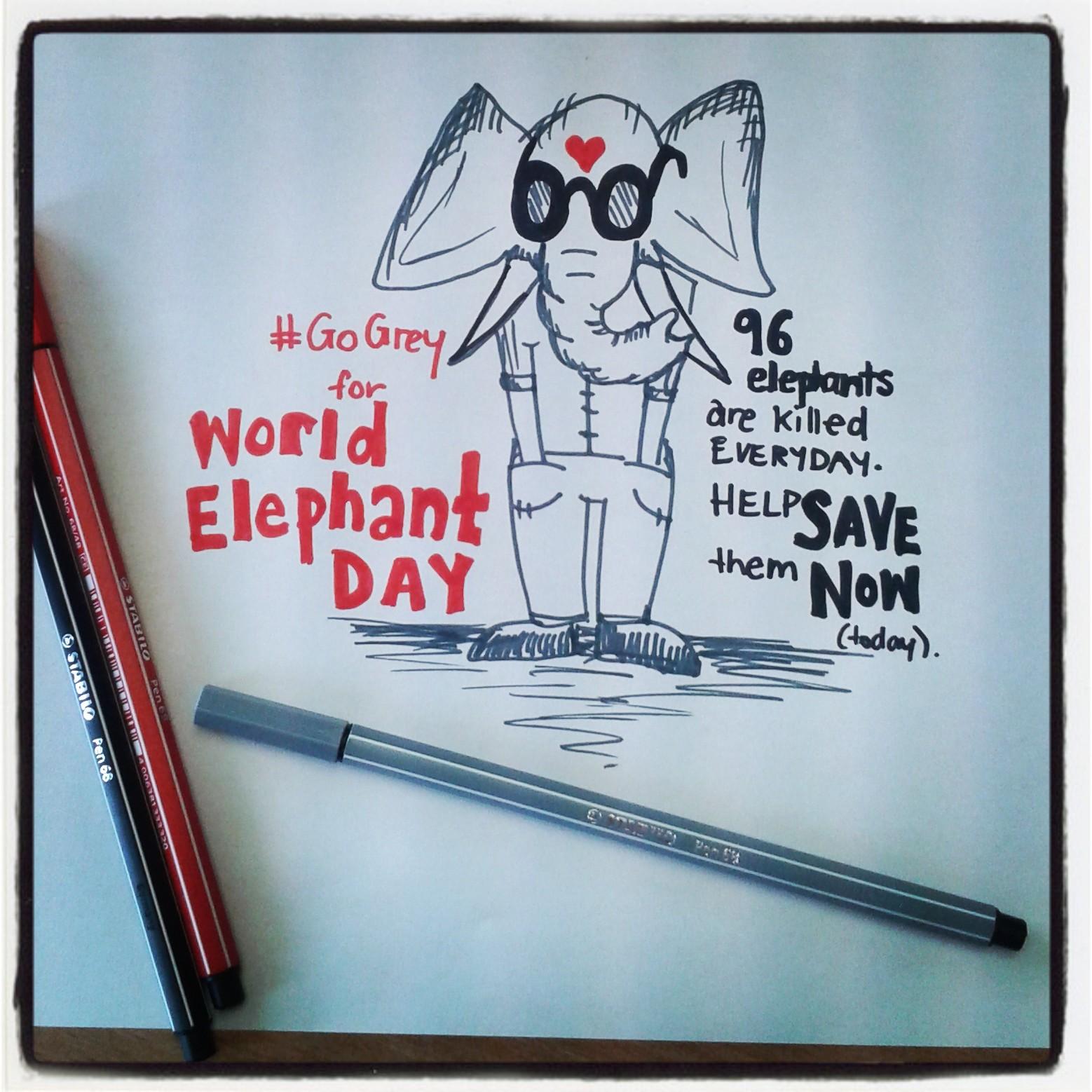 World Elephant Day - Freehand Illustration by Whitney Edwards.jpg