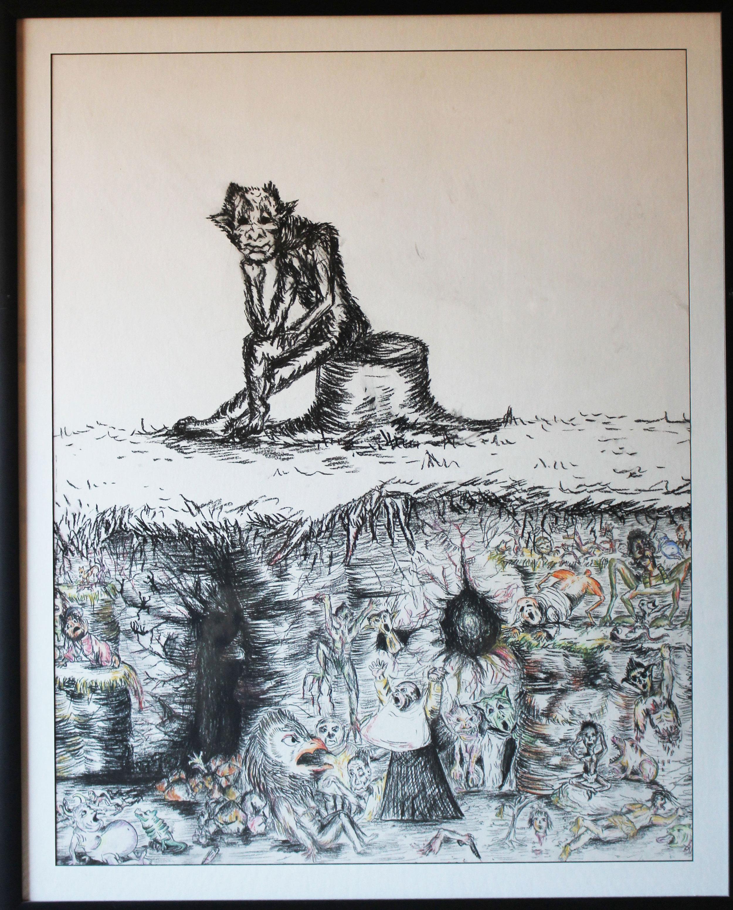 Pensive Goya - Freehand Illustration by Whitney Edwards.jpg