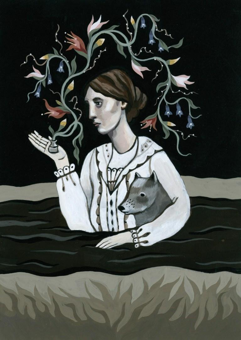 Virginia Woolf (1882–1941) by artist Katy Horan