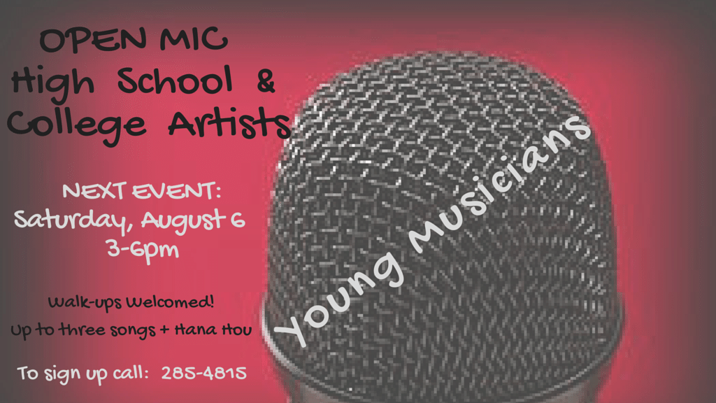Bring your voice and music to this event which is primarily designated for Young Musicians.