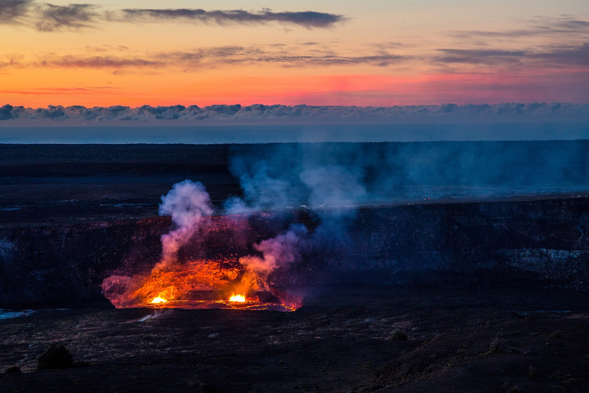 Volacanic eruption on Hawaii Island at Halema'uma'u  PHOTO: Creative Commons