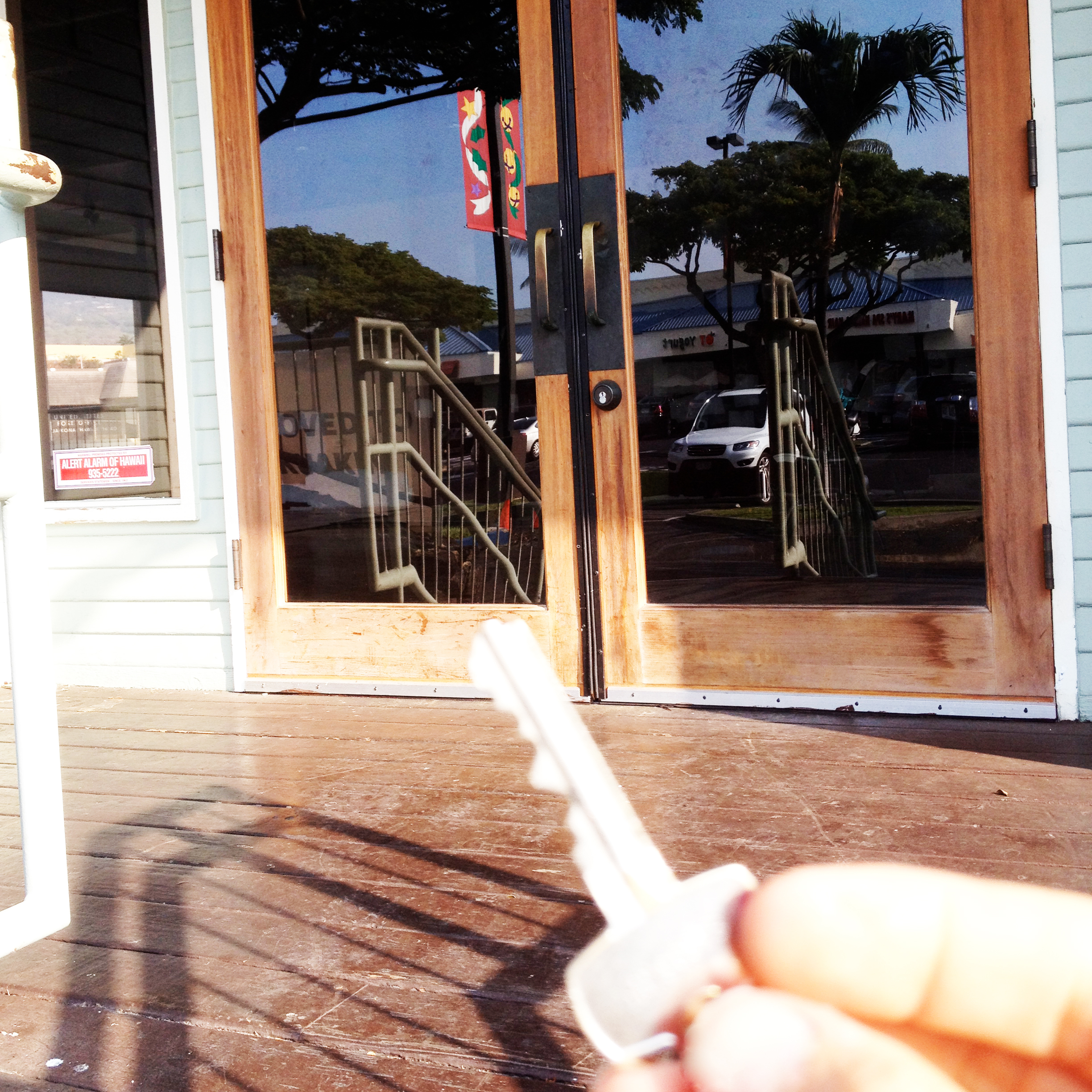 2013 - We got the keys to a location previously held by Starbucks in the Kona Coast Shopping Center on Palani Road.