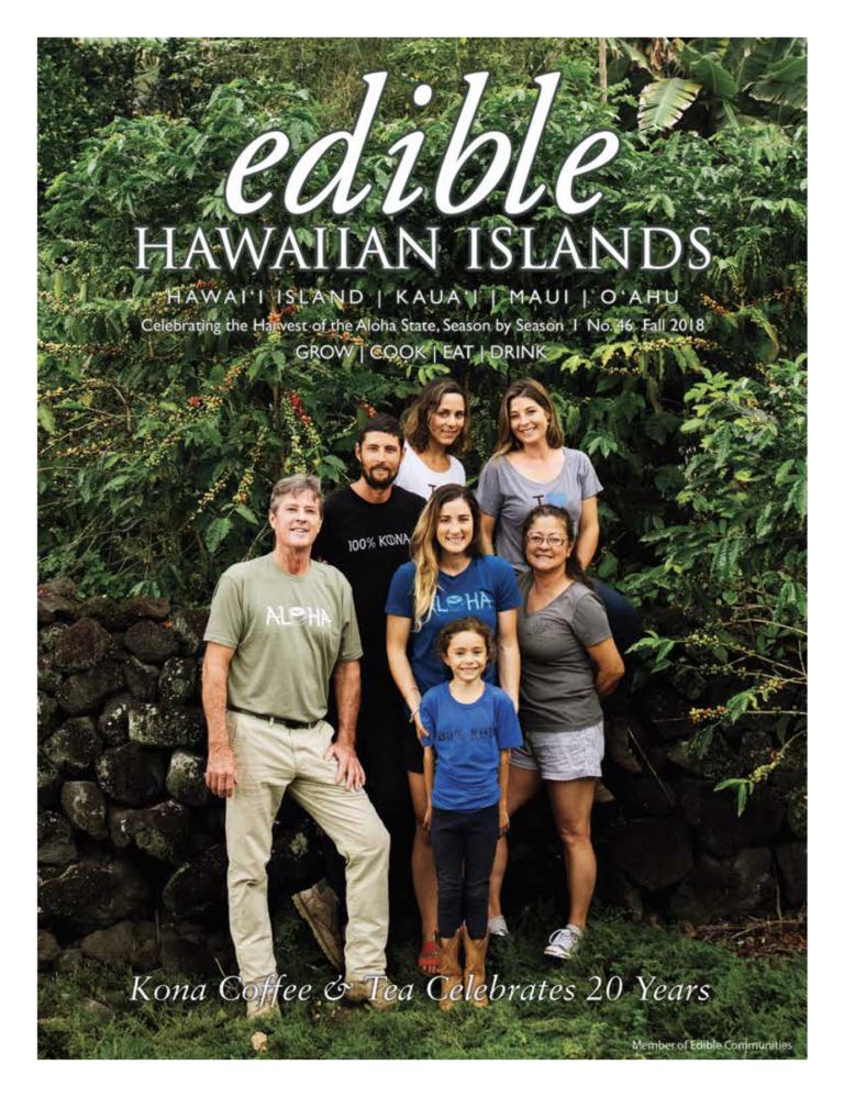 fall 2018 cover of  edible  Hawaiian Islands