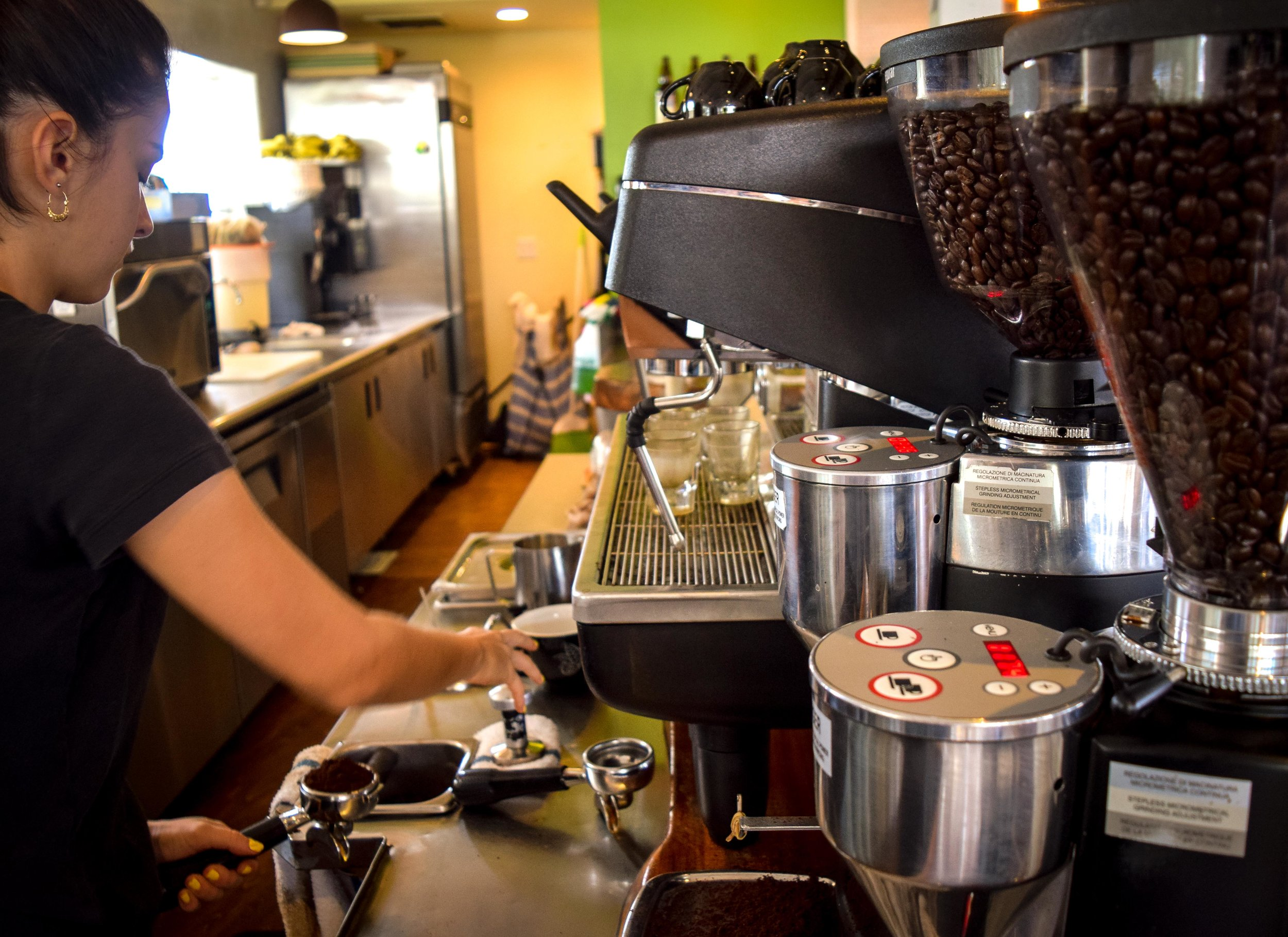 A Barista at our Kona café. PHOTO: Dayva Keolanui