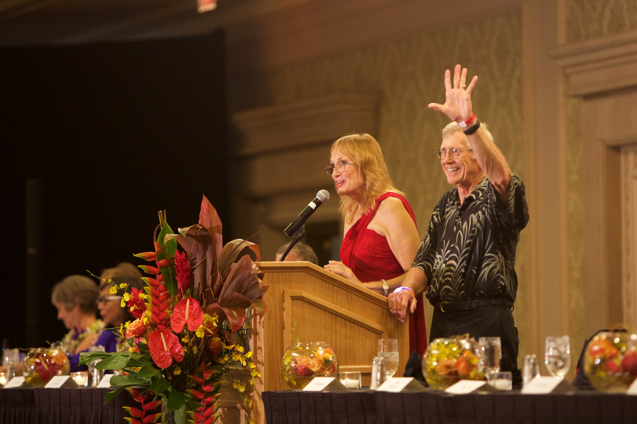 Laura and Frank Sayre at the 2018 The Daniel R. Sayre Memorial Foundation dinner. PHOTO: Eric J. Franke