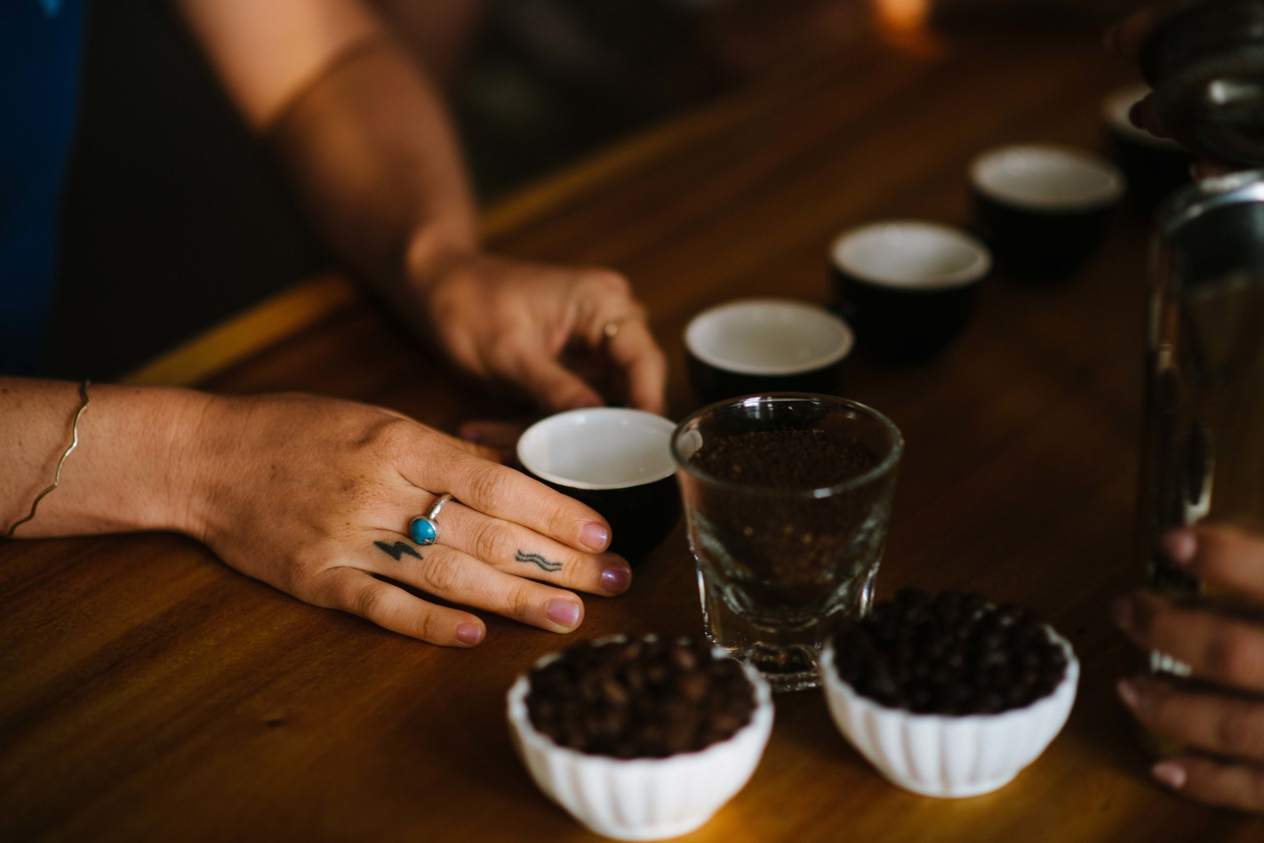 We were required to submit three pounds of unroasted, green coffee from our 2018 harvest for the cupping. PHOTO: Blake Wisz