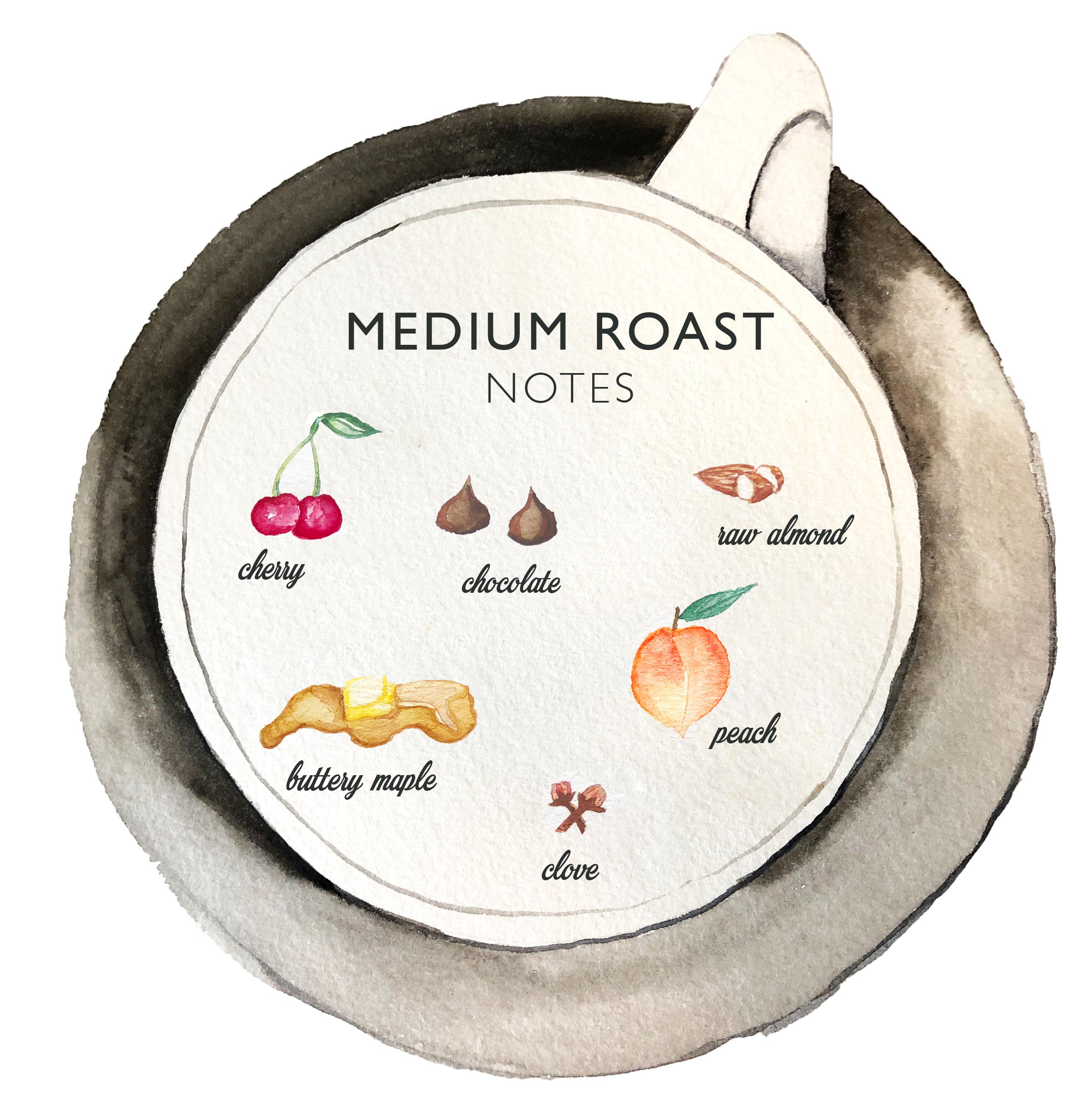 Kona Coffee & Tea's 2019 medium roast has notes of cherry, chocolate, buttery maple, raw almond, peaches, and clove. ART: Dayva Keolanui