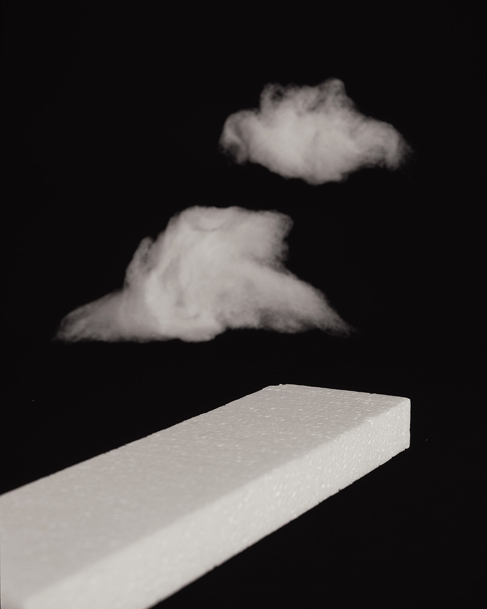[Styrofoam] and {Clouds}, C-Print, 35 x 28 inches, 2015