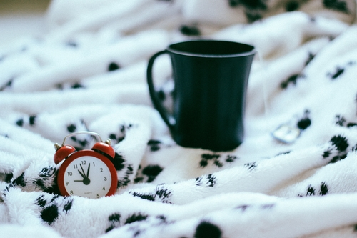 morning, alarm clock, coffee