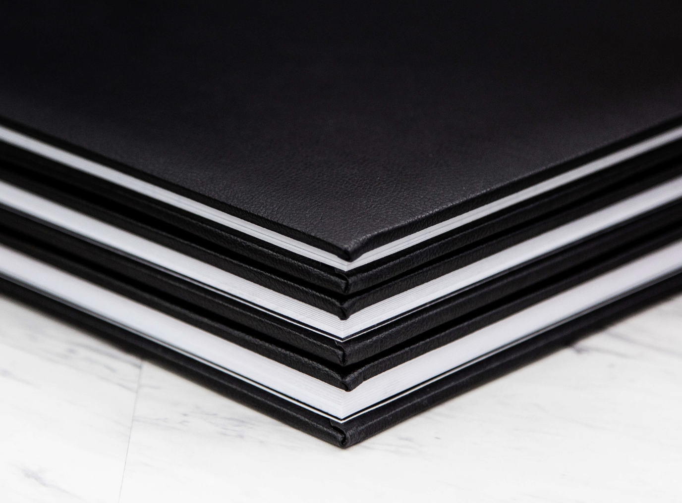 Leather Photo Books with embossed lettering