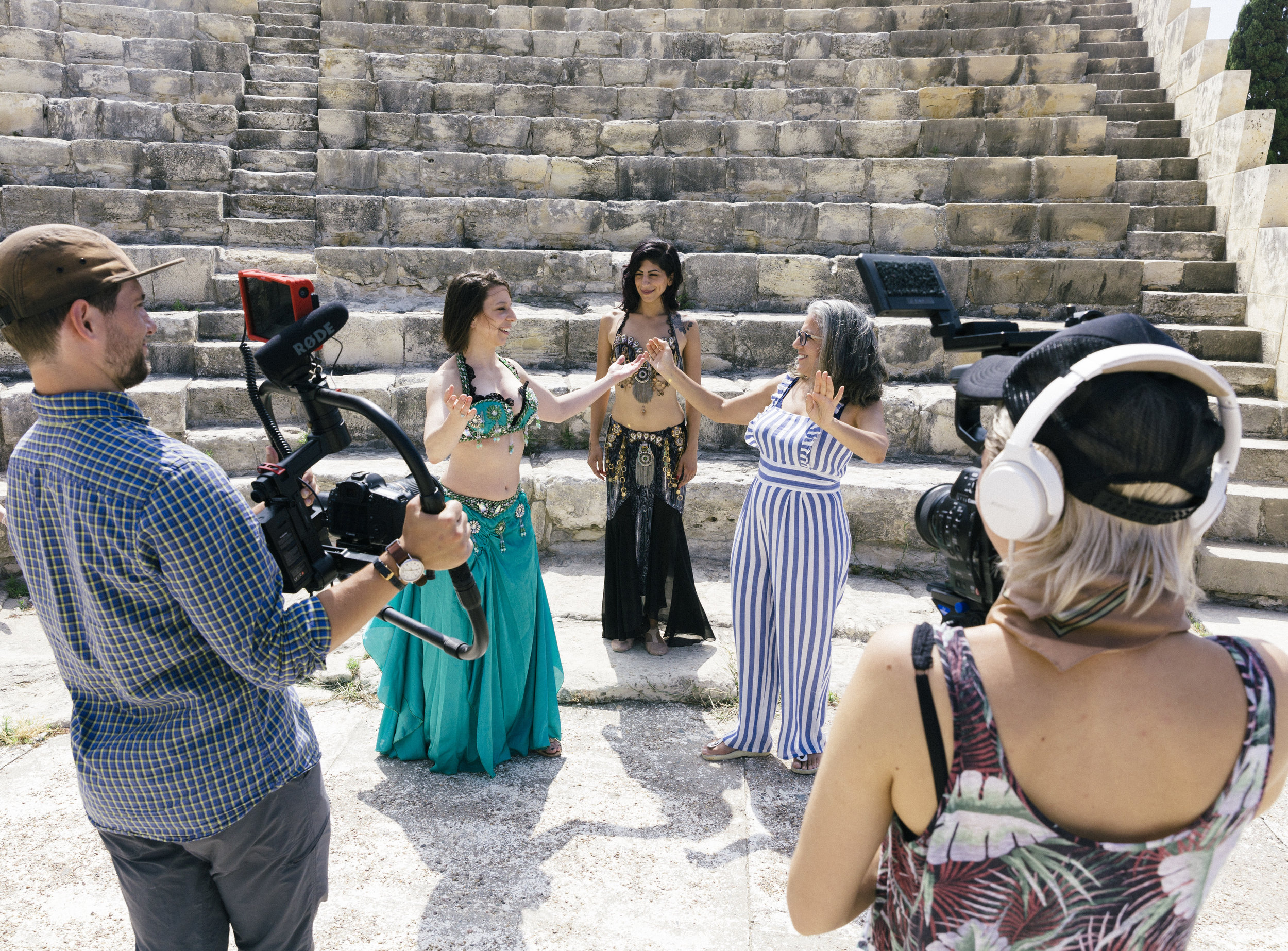 Mickela films with the Bare Feet Crew in Cyprus for the upcoming Season 3! (Photo by ShootMyTravel.com)