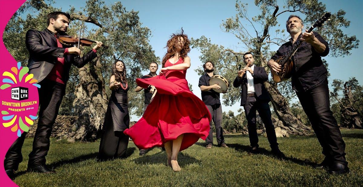 June 19 - Italian Pizzica featuring Canzoniere Grecanico Salentino at Albee Square