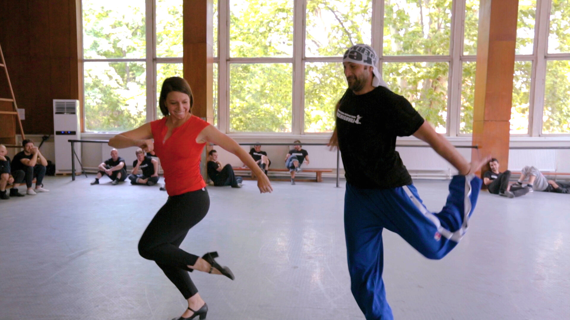 302 Republic of Georgia - Mickela Mallozzi dancing with Sukhishvili Georgian National Ballet 02 - photo by Marko Alonso.JPG
