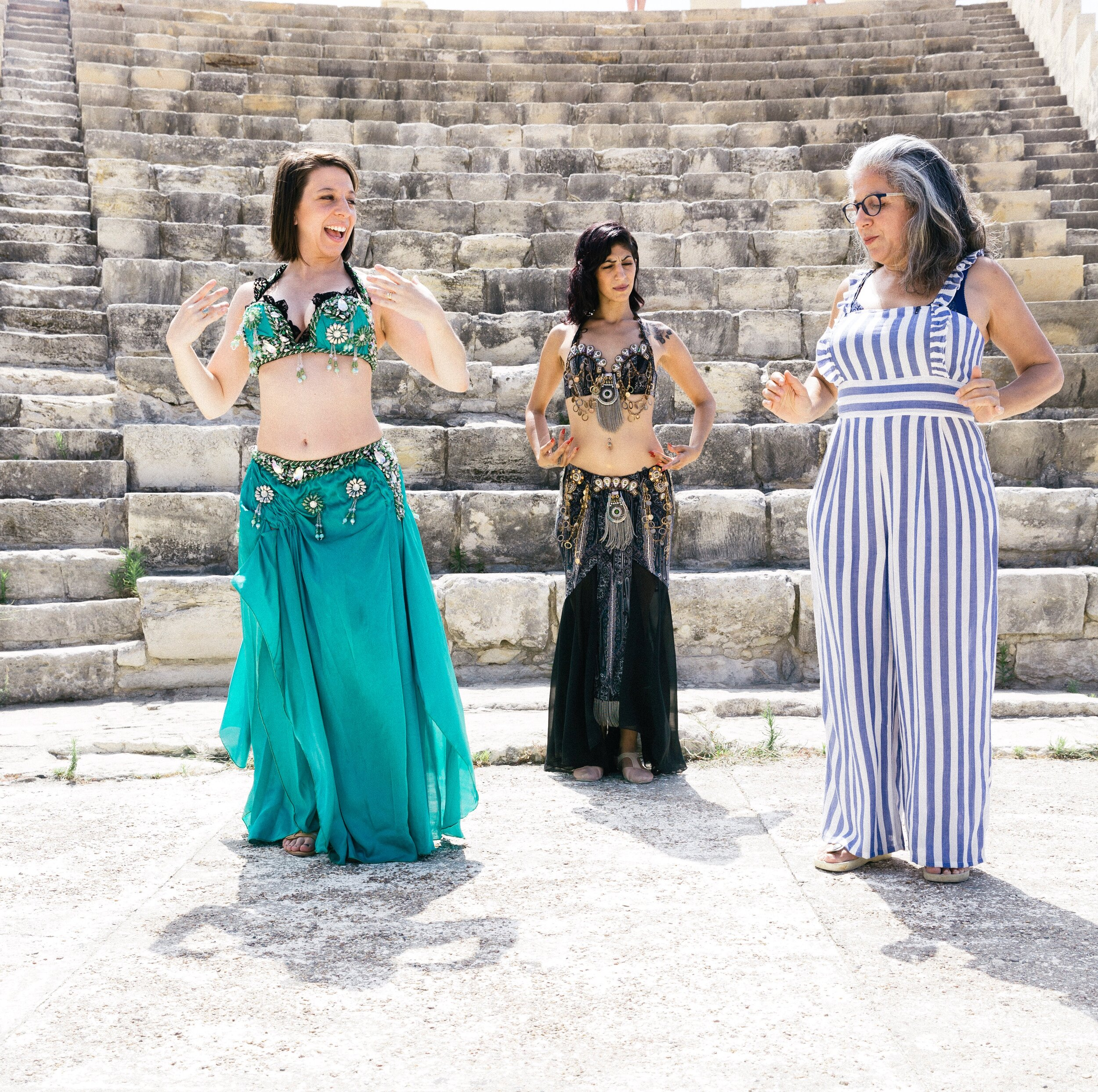 304 Cyprus - Mickela Mallozzi learning Oriental Dance in Cyprus with Sylvia Serena - photo by Shoot My Travel.JPG