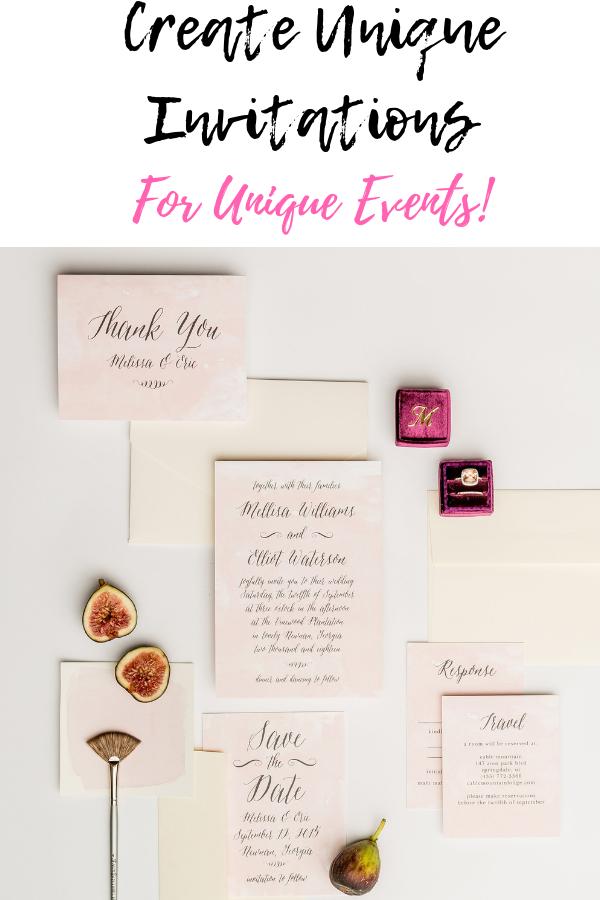 Create Unique Invitations For Unique Events!.png
