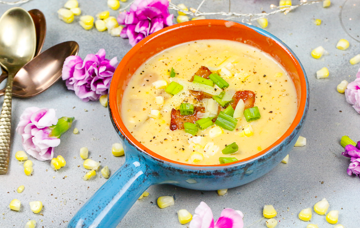 Chowder, Soups, October, Fall Corn Chowder
