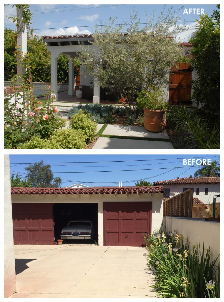 007 BEFORE & AFTER - POOL TRELLIS