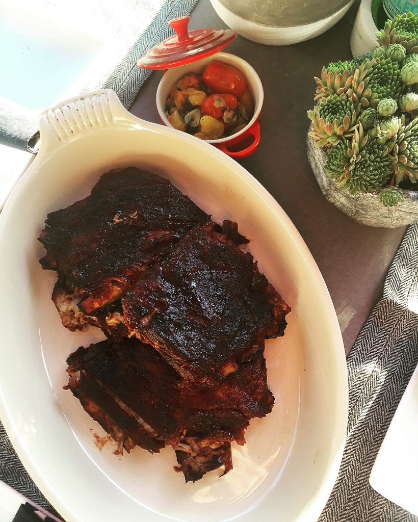 Another classic summer meal..RIBS! My first attempt but turned out easier then I thought. Still going to work on this one a bit before posting a recipe.