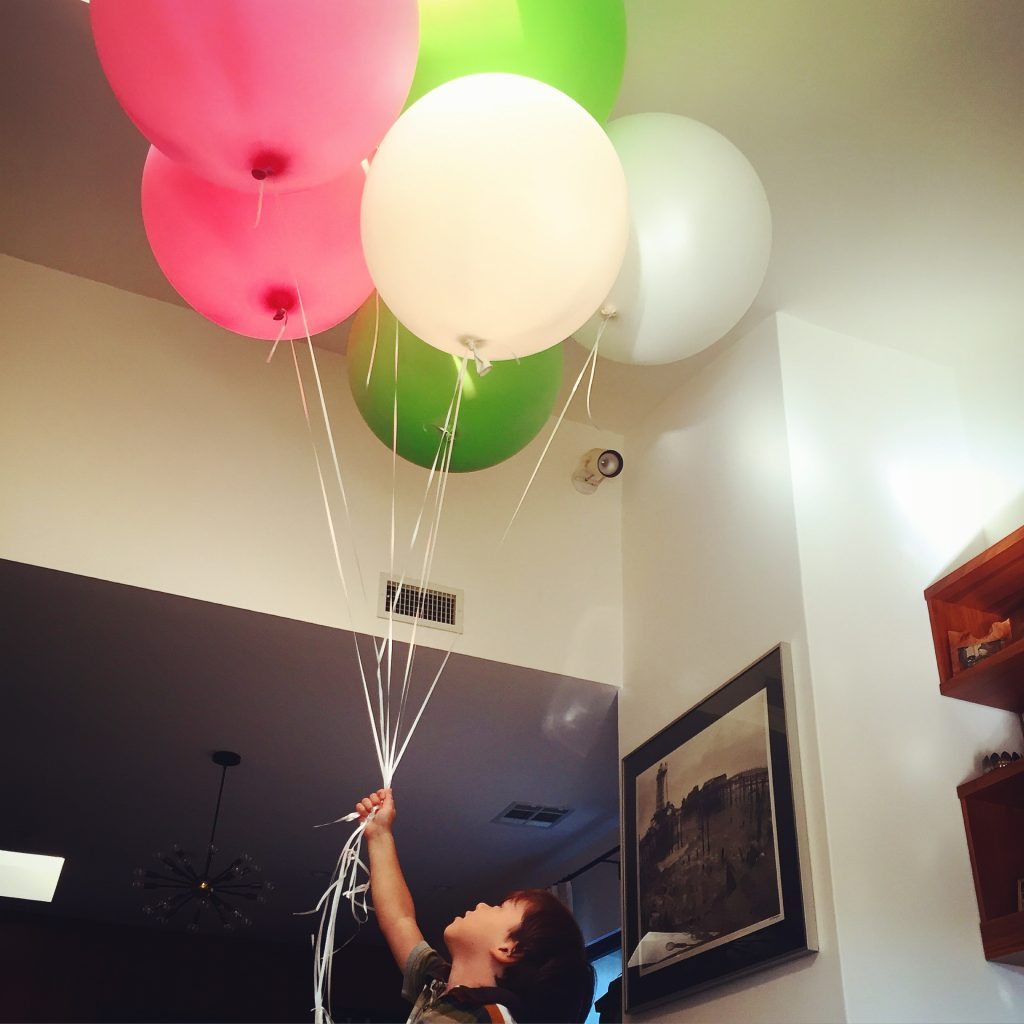 My son LOVES balloons.  I love this extra large round ones the most.  You can find them online  here.