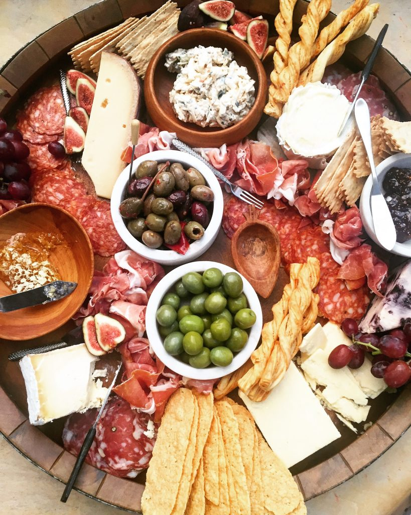 I also love to add fresh fruit like grapes and figs for a natural element to the board.