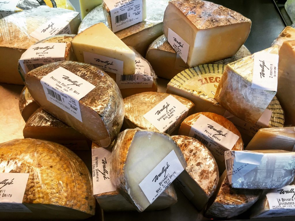 Check out this glorious array of cheeses!
