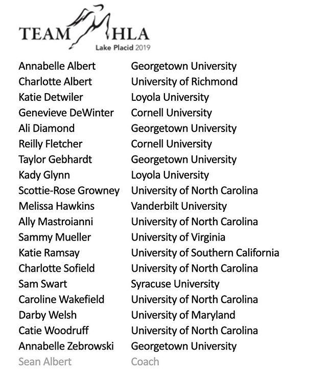 Team HLA Elite - Placid 2019 🤩
