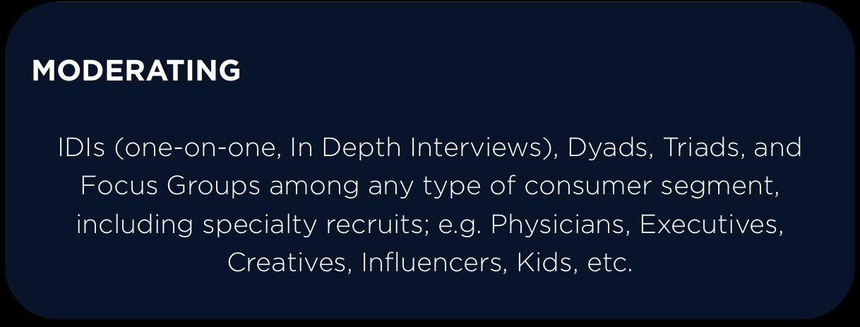 jesse caesar, IDIs, interviews, qualitative market research, Specialty recruits