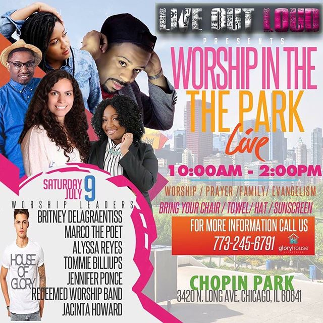 Meet us for worship in the park. #livingoutloud