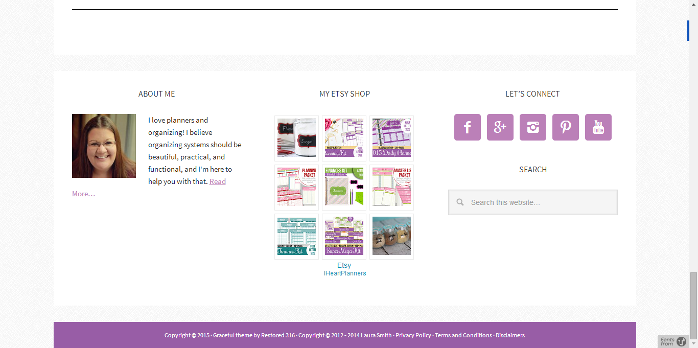 Utilizing Your Blogs Footer - Example 5