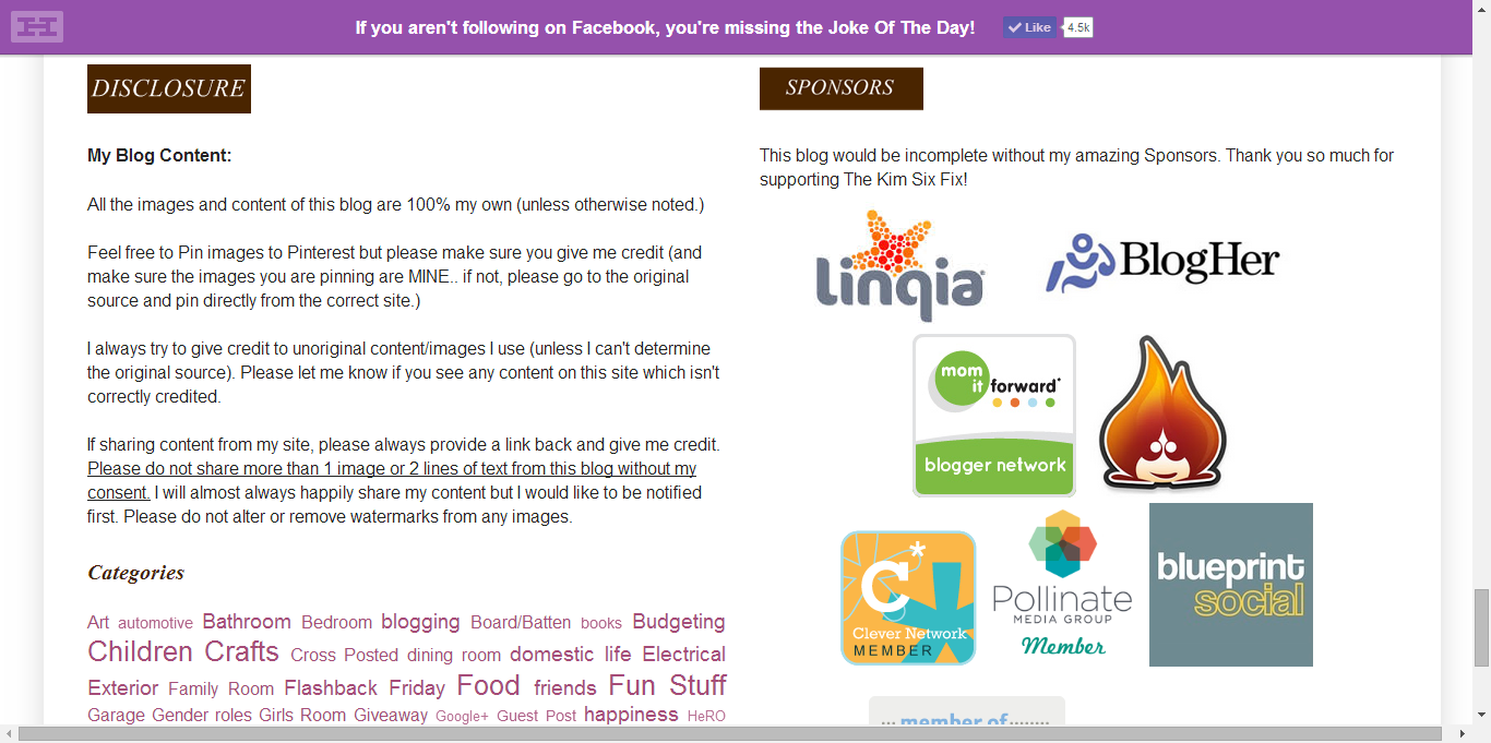 Utilizing Your Blogs Footer - Example 4