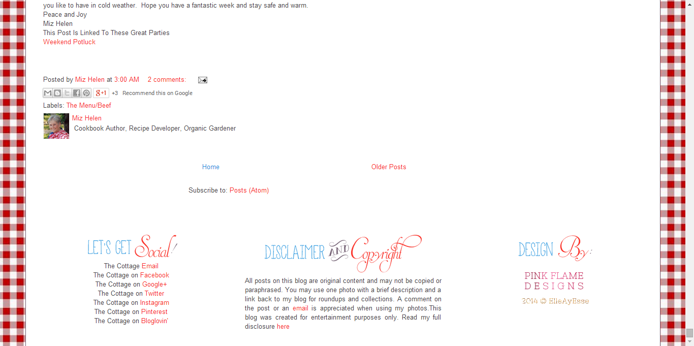 Utilizing Your Blogs Footer - Example 2