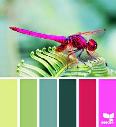 "Proving that all creatures big or small can lend an eye for color to a color palette, I love the bright hues of this little dragonfly. Perfect for the blogger with an emphasis on beauty, this palette screams ""read me"". Caption those tutorials with fonts such as HVD Bodedo and you've got perfect pairing and gorgeous style."