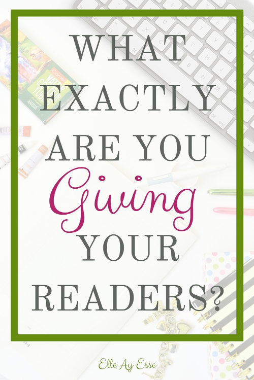 What you give to your readers is why they come back to your website time and again. In the information age, everyone has something to offer and every other blog in your niche is set apart by what it gives to its community. Asking yourself just what you are giving - by which I mean providing - your readers can help take you from zero to hero in just a few easy tweaks!
