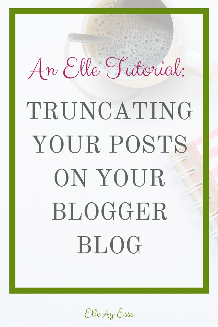 """Many designers live and die by auto truncating. Personally speaking, I cannot stand it. Let me explain:  Auto truncating is a code that plugs in to your blog (usually in the template) that will allow all your posts to be trimmed. It usually includes a thumbnail and an excerpt of your post and then cuts off with a """"read more"""" link.  Sounds great in theory.   But the truth is that the auto truncating codes will choose whatever image it pleases from your post, often the one you wouldn't have wanted to use. It also only allows so many characters before the """"read more"""" link that will take readers to the full post. So unless you are planning to count each character at the beginning of each post, it may cut you off mid sentence or even mid word!  Not so great in practice.  This is where Bloggers page break will become your best friend. ou see that little button up there in your """"new post""""? The one right next to the add video and add photo button? That's a page break. And I am going to show you how to use it."""