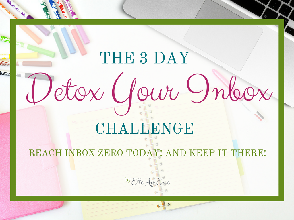 "Does your inbox look like a spreadsheet because there's so many messages sitting in your inbox? Are you ready to tackle the mess of your inbox once and for all? Join my 3 day ""detox your inbox"" challenge and let me help you reach inbox zero every single day!"