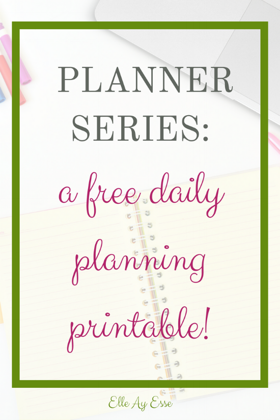 Planner Series February - Free Daily Planning Page from Elle Ay Esse of elleayesse.com