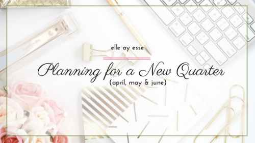 How far do you plan ahead? Weekly? Monthly? My post on quarterly planning will definitely help inspire you plan further ahead; without planning T O O far ahead! | planning | planning ahead | quarterly planning |