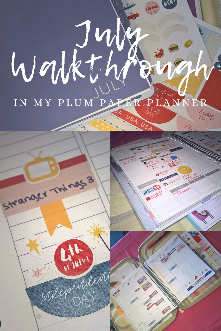 Pin me for later! - July Walkthrough in my Plum Paper planner | Elley Plans on www.elleayesse.com