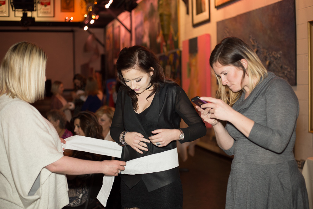 Playing games during the bridal shower at Artisan Works