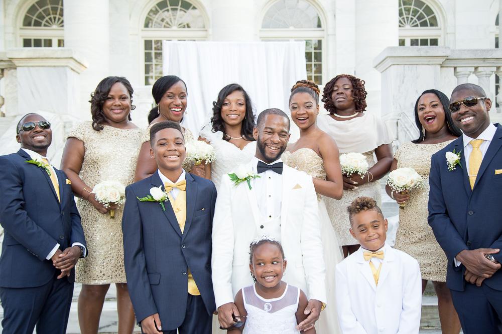 Fun wedding party at DAR Constitution Hall | Megan Rei Photography | Washington DC Photographer