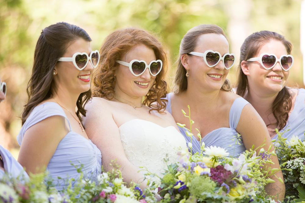 Bride and bridesmaids on the wedding day   Warrenton Virginia   Fauquier Wedding Photography